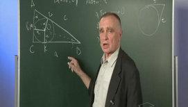 Прямоугольный треугольник, формулы, задачи в общем виде