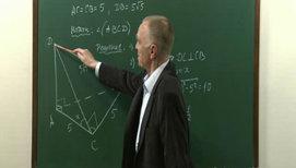 """Повторение теории и решение задач по теме """"Двугранный угол. Перпендикулярность плоскостей"""""""