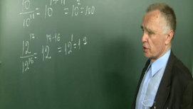 Деление степеней с одинаковыми основаниями (формула a<sup>n</sup>&#247a<sup>k</sup>=a<sup>n-k</sup> )