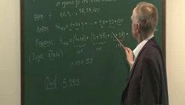 Формула суммы членов конечной арифметической прогрессии