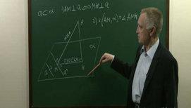 Простейшие задачи на применение теоремы о трех перпендикулярах, на угол между прямой и плоскостью