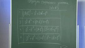 Формулы сокращённого умножения. Разность квадратов