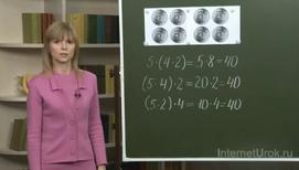 Умножение числа на произведение